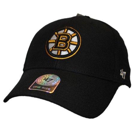 Boston Bruins 47 Brand Black MVP Wool Adjustable Strap Hat Cap - Walmart.com 76c3692efa4