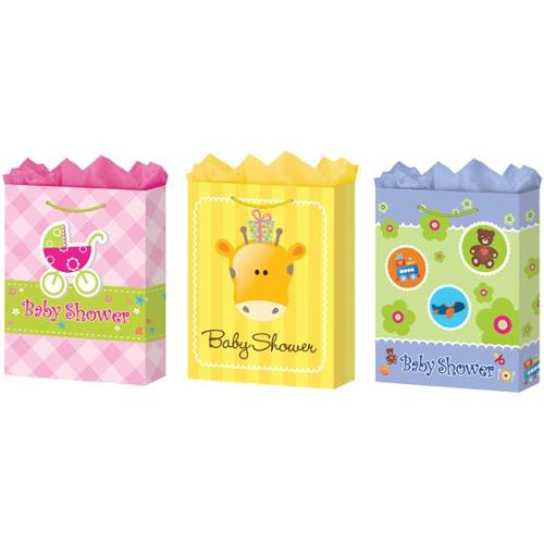 DDI 1281126 Large Baby Shower Gift Bags - Matte Case Of 24