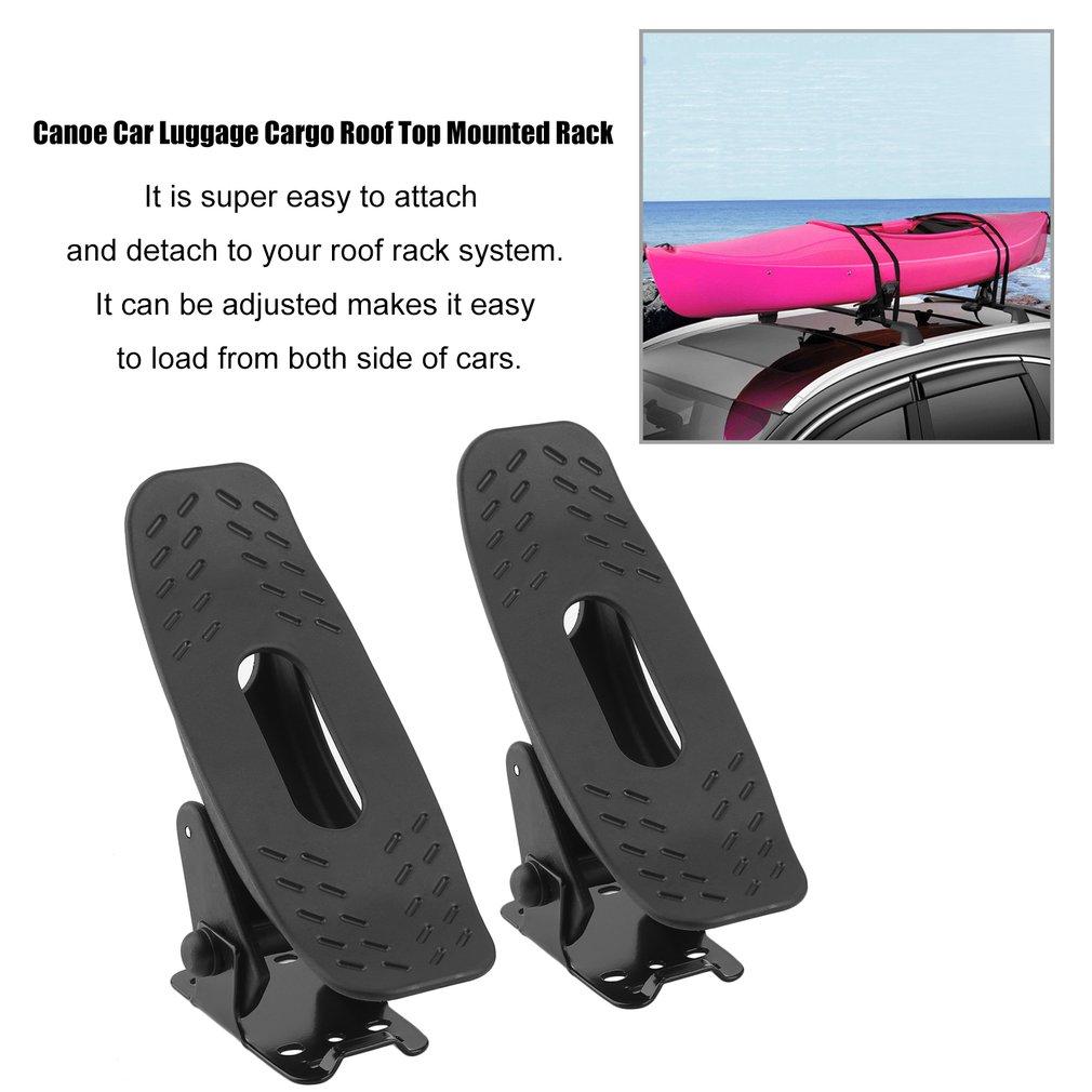 2 Pairs Snowboard Kayak Carrier Canoe Car Luggage Cargo Roof Top Mounted Rack