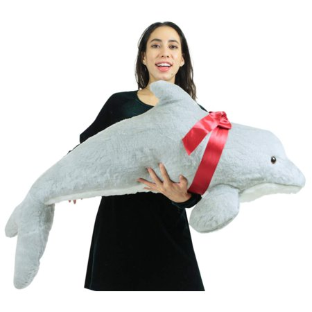 American Made Giant Stuffed Dolphin 46 Inch Soft Plush Made in USA - Dolphin Plush