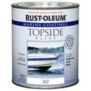 Rust-Oleum Marine Coatings Topside Marine Paint Semi-Gloss White, Quart