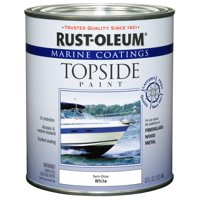 Rust-Oleum Marine Coatings Topside Marine Paint Semi-Gloss White, Quart