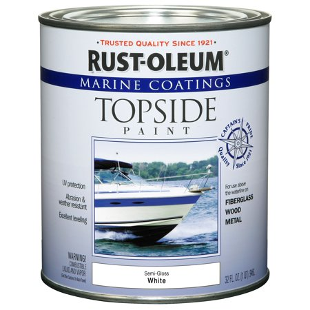 Rust-Oleum Marine Coatings Topside Marine Paint Semi-Gloss White,