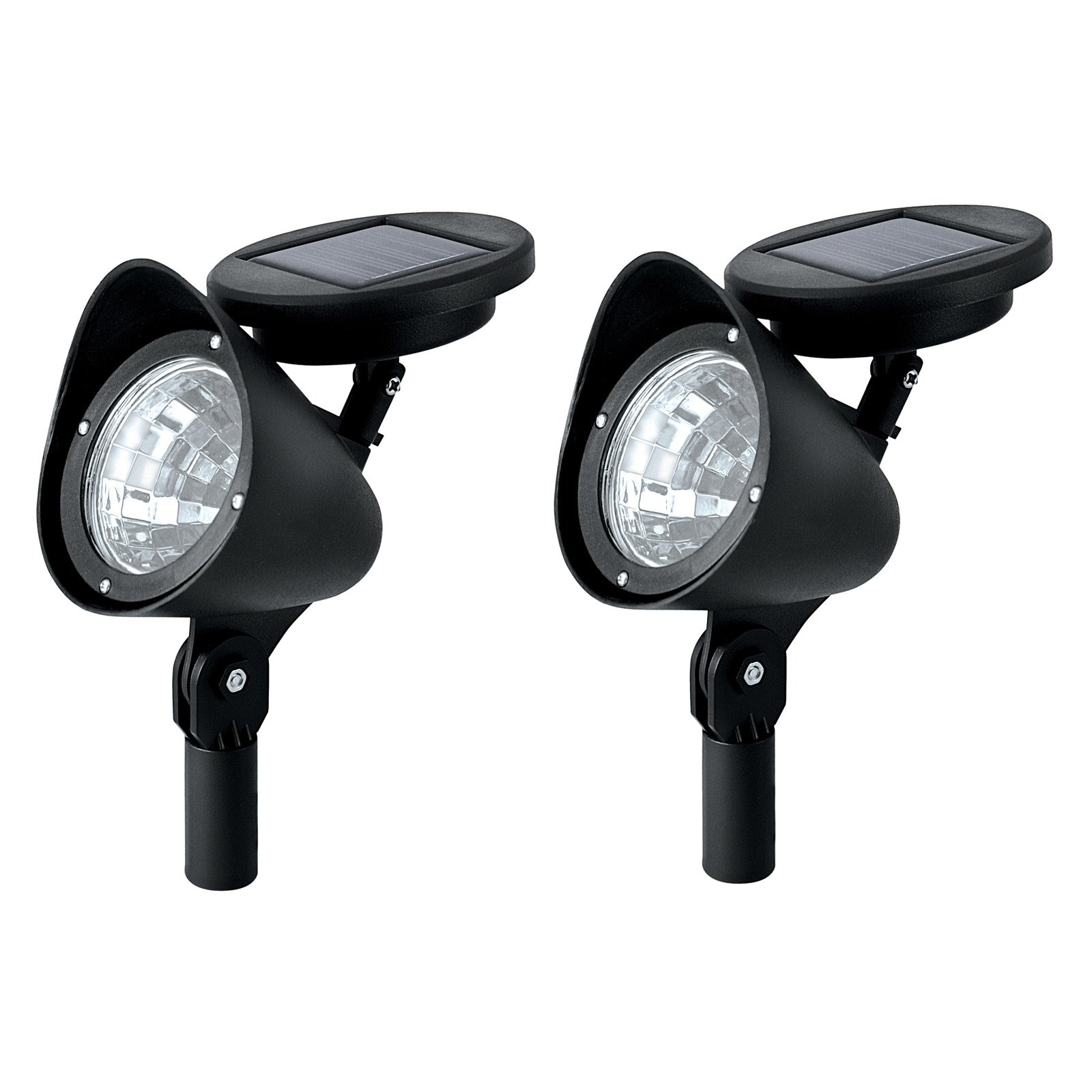 Paradise Lighting Solar LED Plastic Spotlight, 2 Pack