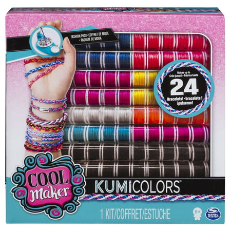 Cool Maker - KumiColors Fantasy & Neons Fashion Pack, Makes Up to 24 Bracelets with the KumiKreator, for Ages 8 and Up](Friendship Bracelet Maker)