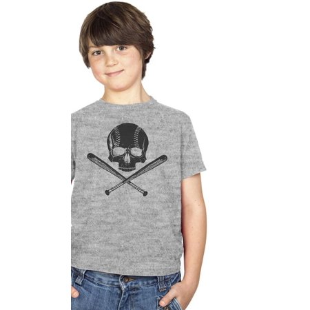 Youth Jolly Baseball Cool Sports T shirt Funny Pirate Design for Kids