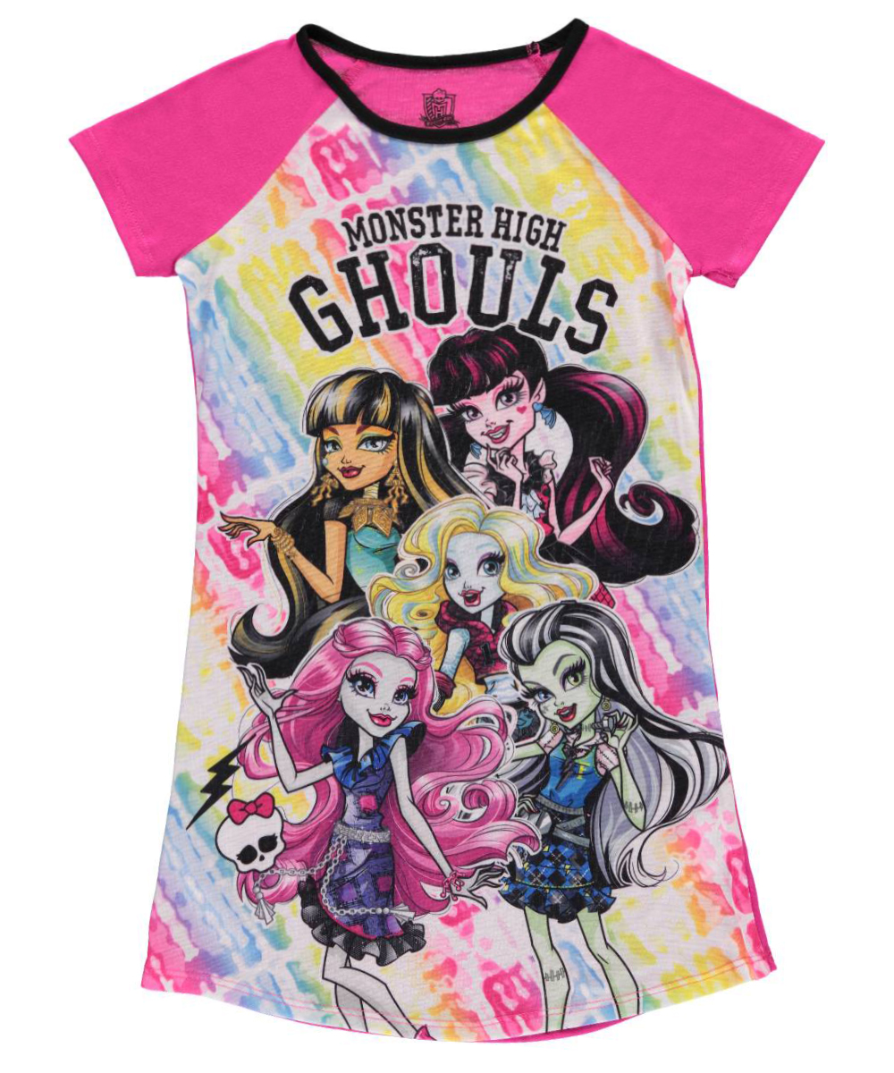 "Monster High Big Girls' ""Squad Ghouls"" Nightgown (Sizes 7 - 16)"