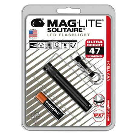 Maglite SJ3A016 - Solitaire 47 Lumens Black LED Mini Keychain Flashlight