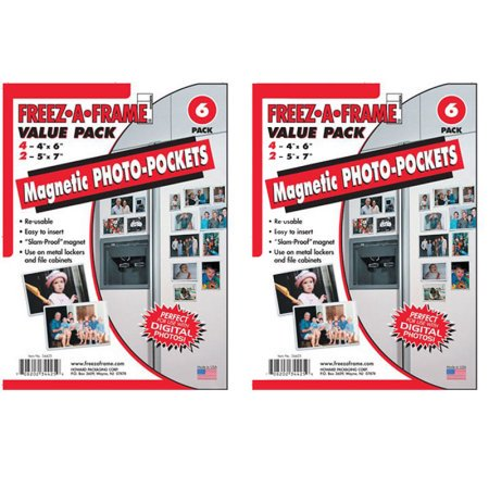 Freez-A-Frame Magnetic Photo Frames 12 Pack Includes 8-4