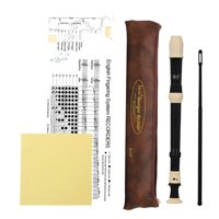 IRIN ABS Alto Recorder 8 Hole Baroque Style Recorders Instrument Detachable with Finger Rest and Carrying Bag Classroom Wind Musical Instruments Black