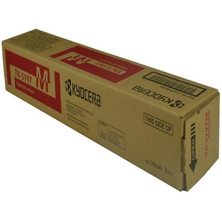 OEM Kyocera Mita TK-5197M (1T02R4BUS0) Toner Cartridge, MAGENTA, 7K YIELD - for use in Kyocera Mita KM 306CI printer, KM 307CI Km C2230 Yield