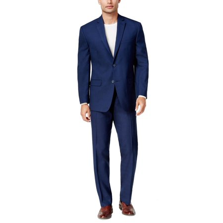 Marc York Navy Mens Two Button Two-Piece Suit