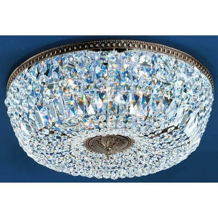 Crystal Baskets 8-Light Crystal Flush (Chrome - Swarovski Spectra)
