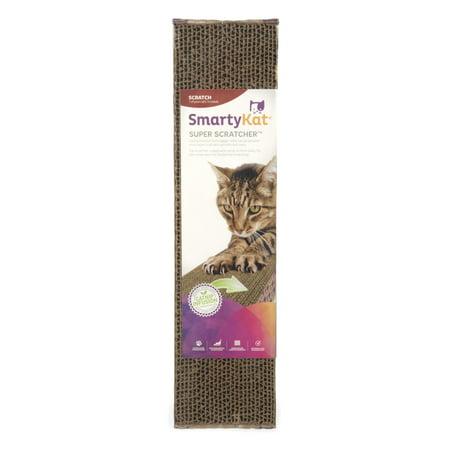 SmartyKat® Super Scratcher® Single Wide Corrugate Cat Scratcher with Infused Catnip Incline Cat Scratcher