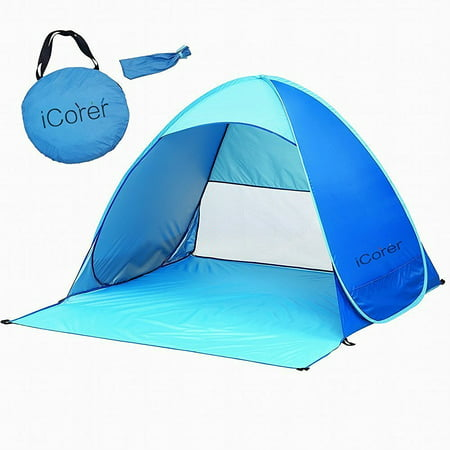 Beach Tent Icorer Automatic Pop Up Instant Portable Outdoors Quick Cabana Sun Shelter