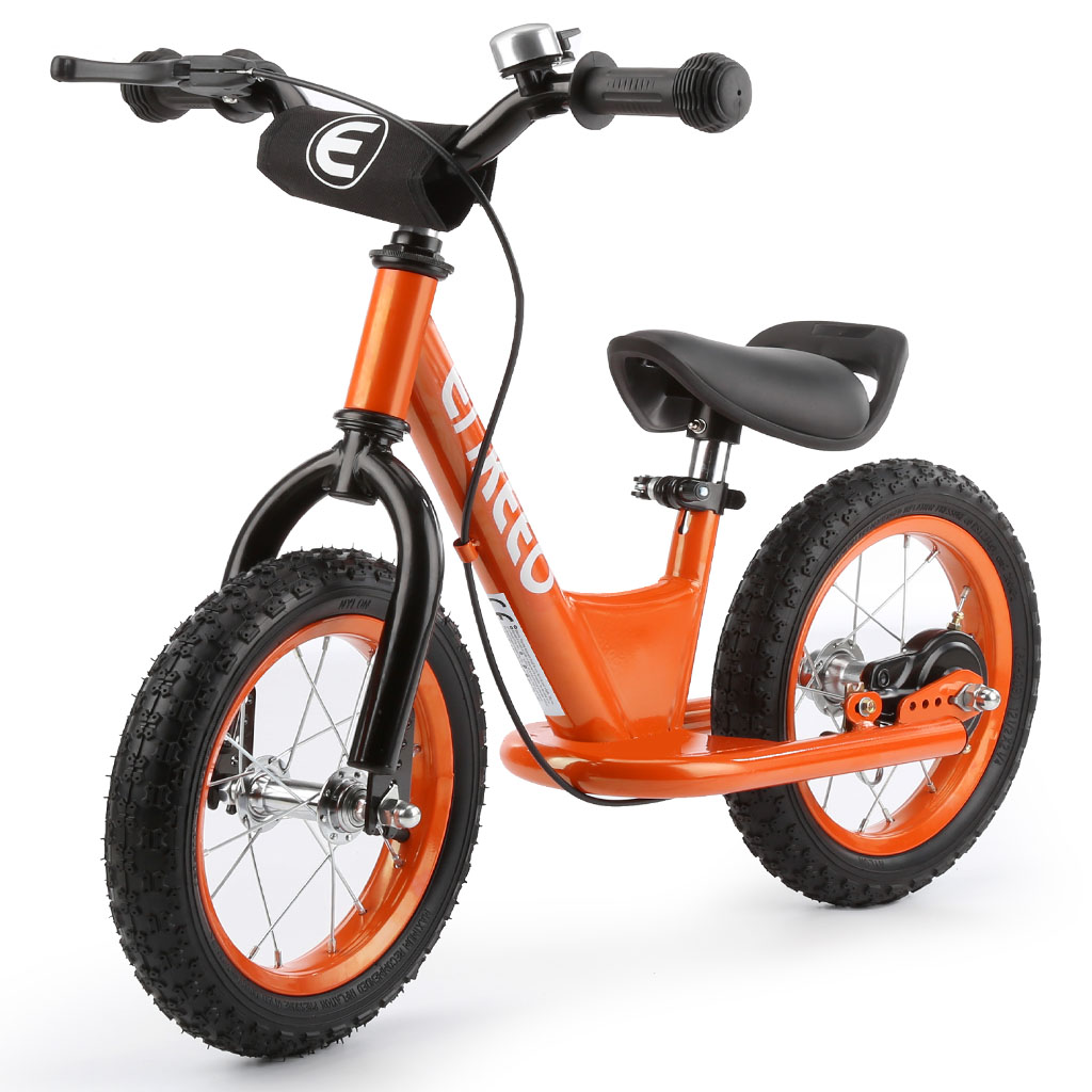 ENKEEO 12'' Sport Balance Bike No Pedal Control Walking Bicycle Transitional Cycling Training,Orange