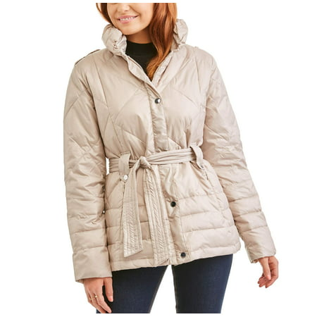 (BIG CHILL Women's Belted Puffer Jacket Coat)