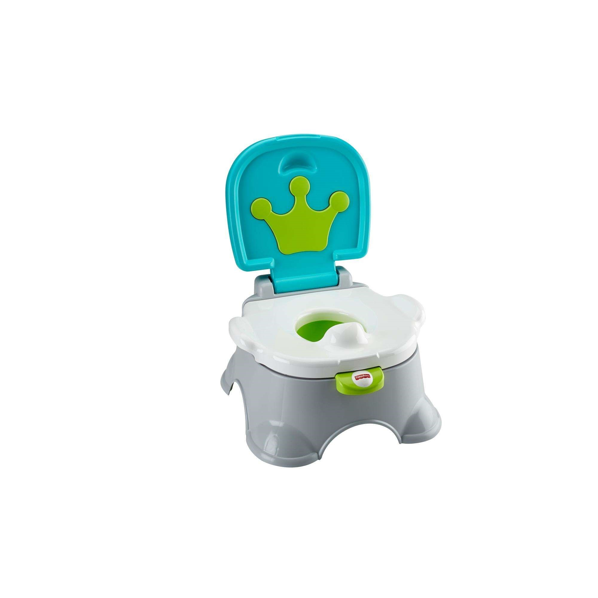 Fisher Price Royal Stepstool Blue Potty Training Seat by Fisher-Price