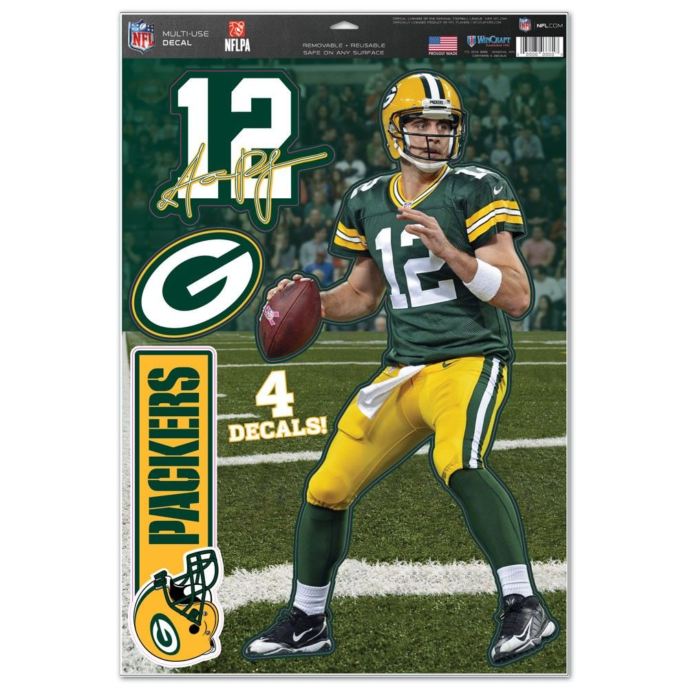 """Green Bay Packers Aaron Rodgers 11 x 17"""" Multi-Purpose Decal"""""""