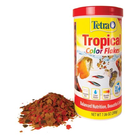 Tetra Color Tropical Fish Food Flakes, 7.06 oz