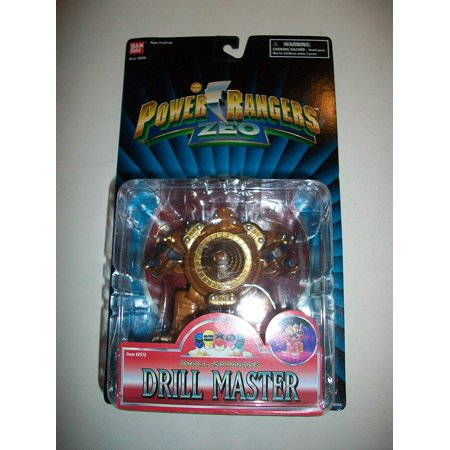 Power Rangers Zeo 1996 Evil Space Alien Drill Spinning Drill Master Action Figure MOC MOSC 5 1/2' (Power Rangers In Space A Ranger Among Thieves)
