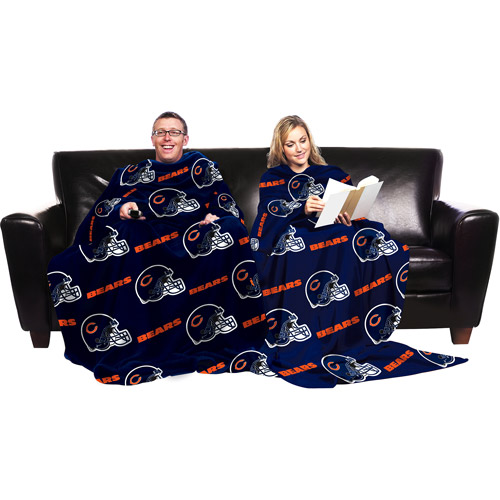 NFL Chicago Bears Blanket with Sleeves