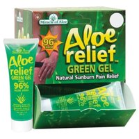 Miracle Of Aloe 41751 Aloe Relief Green Gel, 1-oz. - Quantity 12