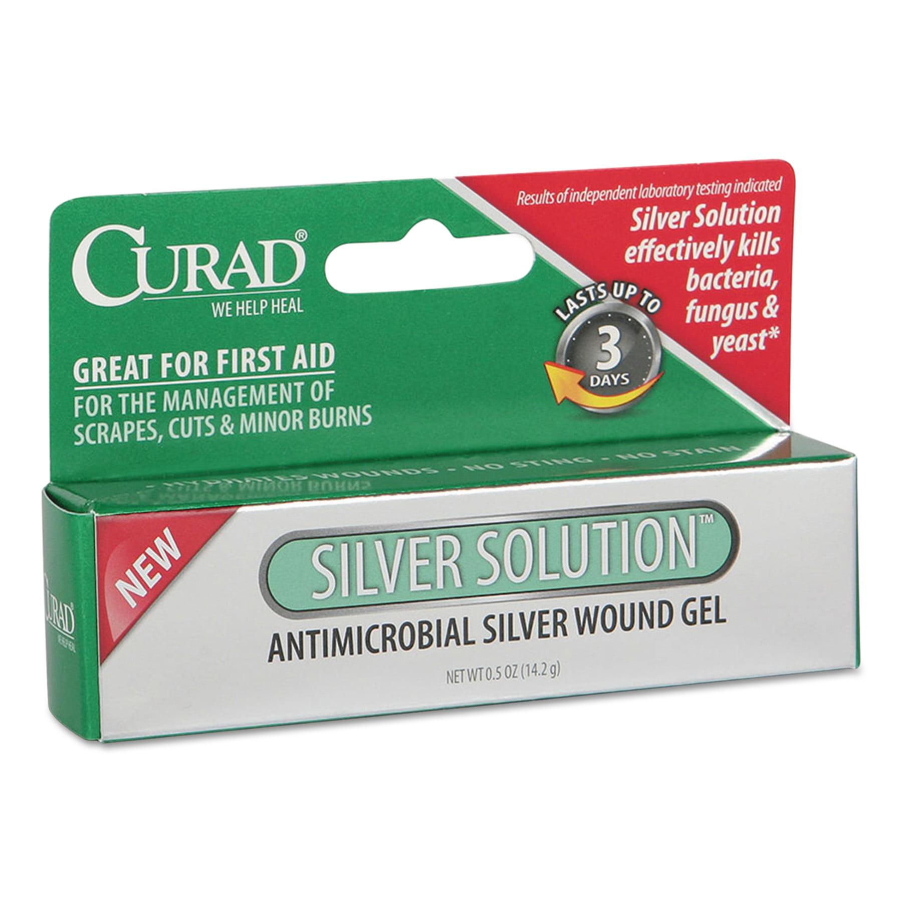 Curad Silver Solution Antimicrobial Gel, .5oz Tube