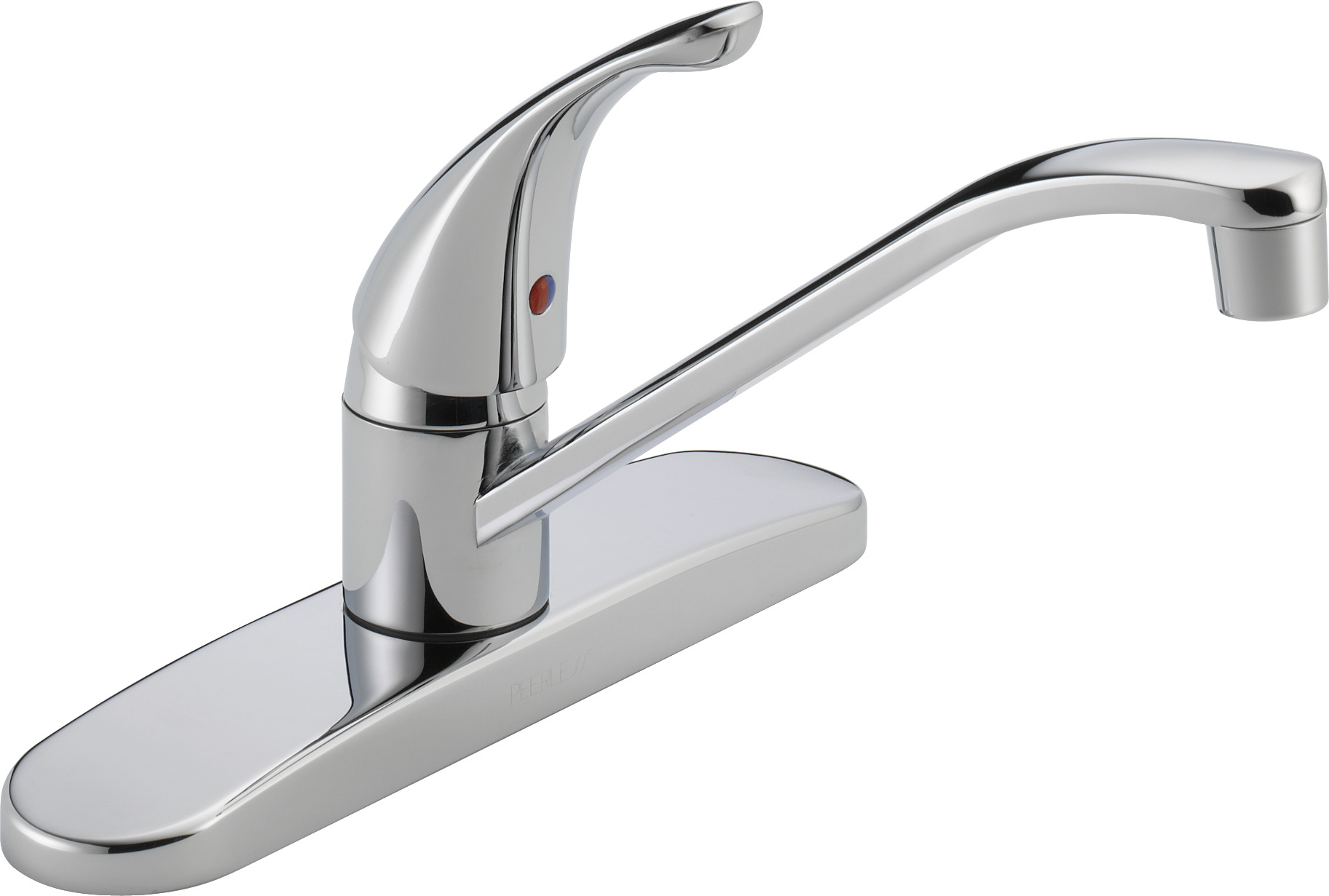 Elegant Peerless Single Handle Kitchen Faucet With Single Lever Control, Chrome