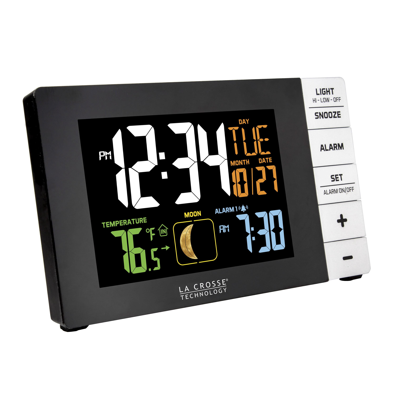 La Crosse Technology Color Alarm Clock with Temperature and USB Port -  Walmart.com