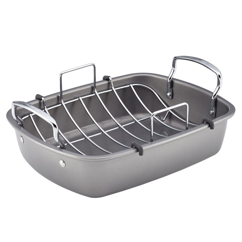 "Circulon Nonstick Bakeware 17"" by 13"" Roaster with U-Rack"