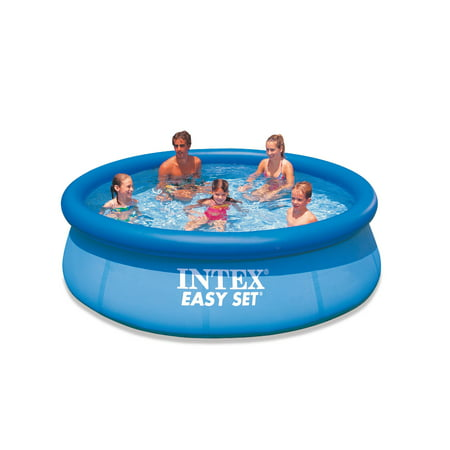 intex easy set 10 39 x 30 swimming pool with filter pump. Black Bedroom Furniture Sets. Home Design Ideas