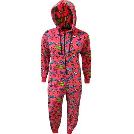 Gotta Love Nerds Candy Plush One Piece Pajamas