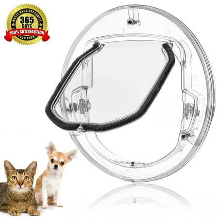 Estink 4 Ways Locking Cat Door Pet Door Kit For Cats And Small Dogs