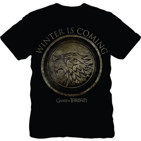 The Game of Thrones Stark Seal Winter Is Coming Adult Black T-Shirt - Game Of Thrones Outfits