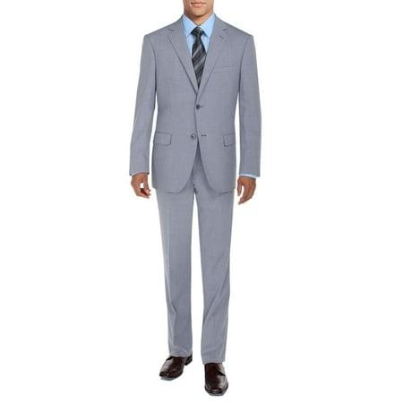 DTI BB Signature Men's Suit 2 Button Modern Fit Side Vent Jacket Flat Front Pant Stone
