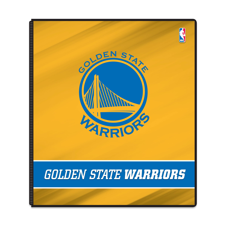 """NBA Golden State Warriors 3 Ring Binder, 175 Sheet Capacity, 1"""" Metal Rings"""