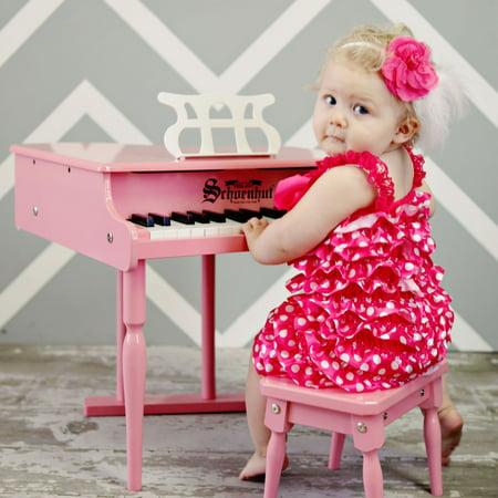 - Schoenhut 30 Key Pink Classic Baby Grand Piano