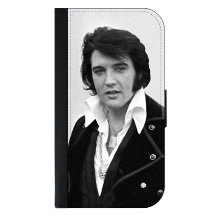 Elvis Presley - Wallet Style Phone Case with 2 Card Slots Compatible with the Standard Samsung Galaxy s8 - Elvis Presley Cape