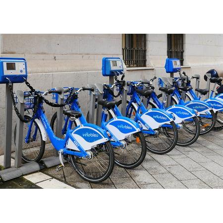 Rent A Smoke Machine (LAMINATED POSTER Rental Bikes Machines Rental Station Velo Bleu Poster Print 24 x)