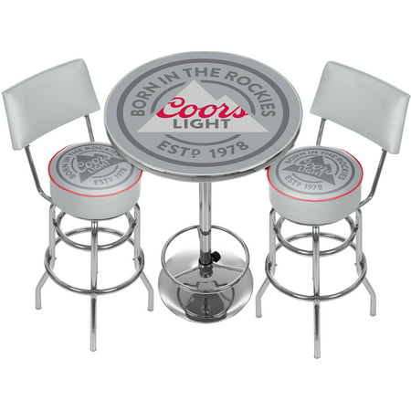 Coors Light Game Room Combo, 2 Stools with Back and Table