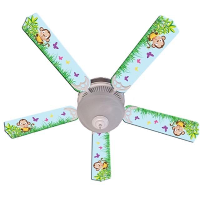Ceiling Fan Designers 52FAN-IMA-BMMB Baby Monkey Mischief With Banana Ceiling Fan 52 inch