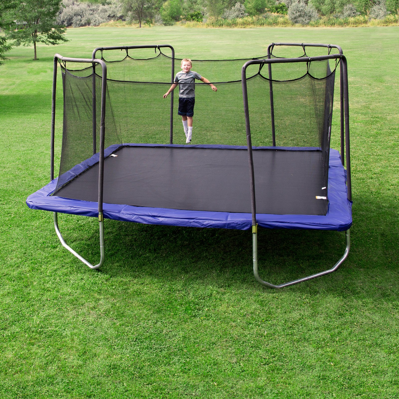 mini trampoline with enclosure skywalker 15 ft square trampoline and enclosure combo 7517