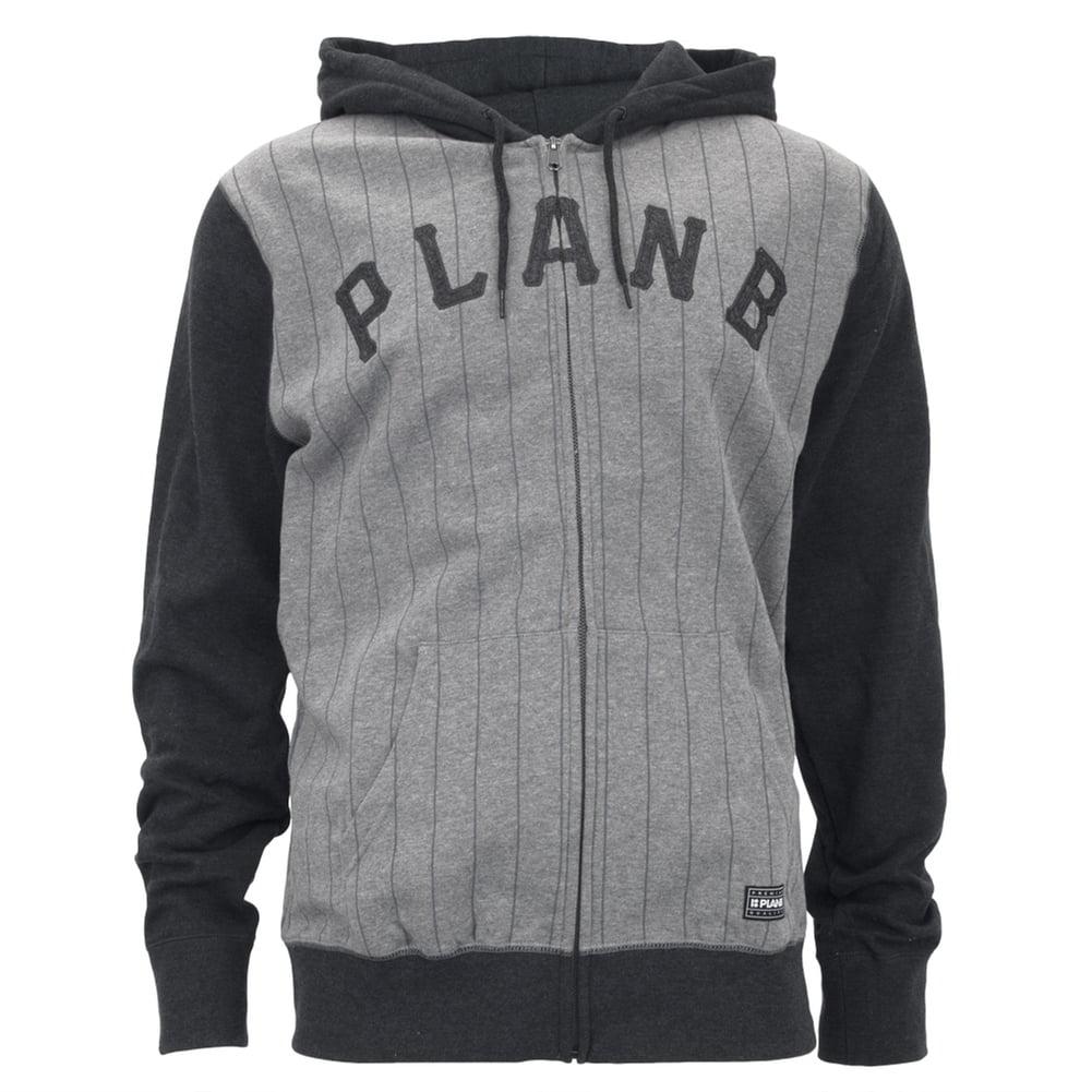 Plan B - Plan B - Burrough Charcoal Adult Zip-Up Hoodie ...