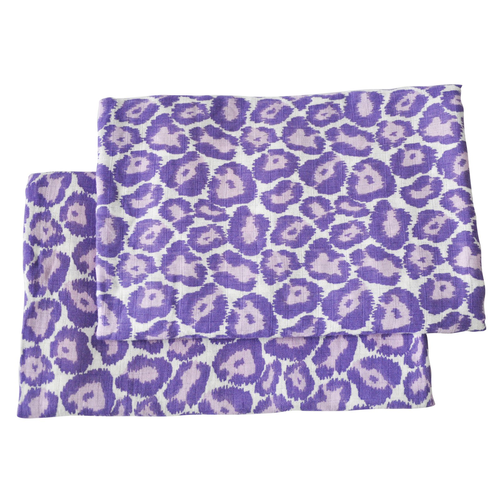 Bacati Ikat Leopard 2 Piece Muslin Crib Sheet Set