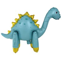 Foil Stand Up Dinosaur Balloon, Green & Gold, 25.5in