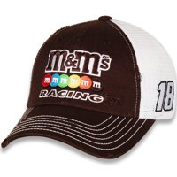 Men's Checkered Flag Brown/White Kyle Busch M&M'S Racing Adjustable Snapback Hat - OSFA