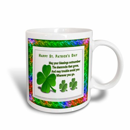 3dRose St Patricks Day, Ceramic Mug, 15-ounce - St Patrick Sayings