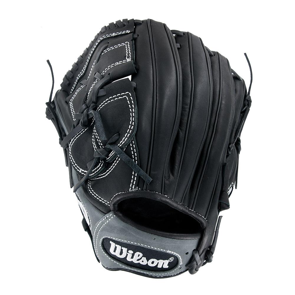 "Wilson 6-4-3 12"""" Leather Infield/Pitcher Baseball Glove, Left Hand Throw"