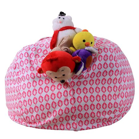 iuhan kids stuffed animal plush toy storage bean bag soft pouch stripe fabric chair i. Black Bedroom Furniture Sets. Home Design Ideas